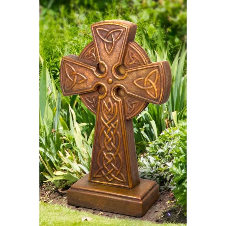 Henri Studio Celtic Cross 27 H Relic Roho Garden Accent 70c75 Lamps Plus