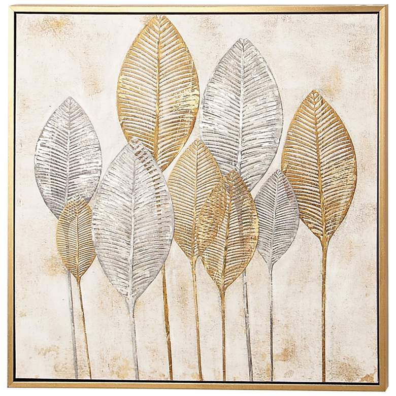 "Denali 40"" Square Wood Framed Canvas Wall Art"