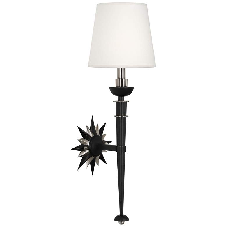 """Cosmos 25 3/4""""H Patina Bronze and Antique Silver Wall Sconce"""