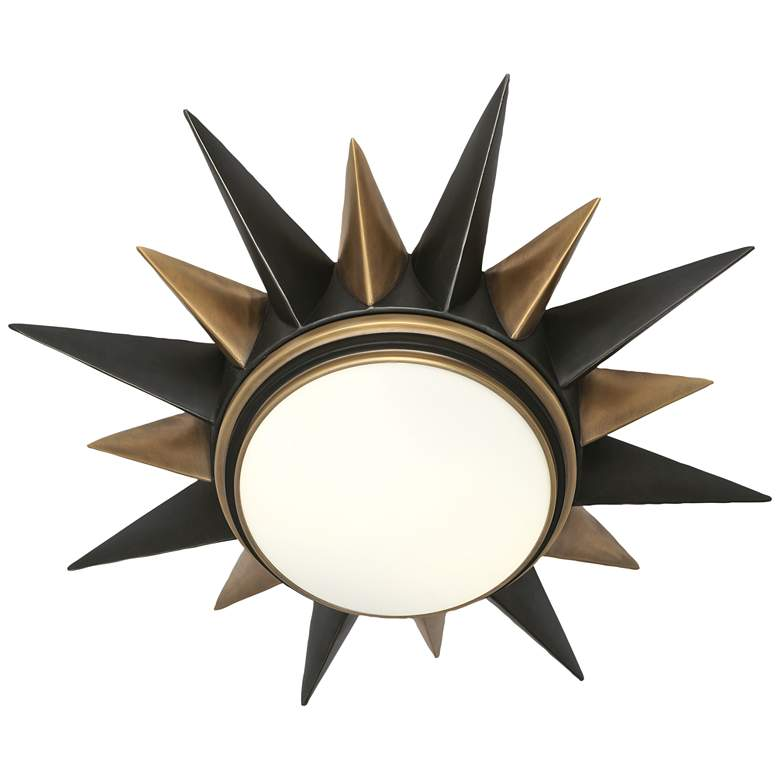 "Cosmos 20""W Deep Patina Bronze and Warm Brass Ceiling Light"