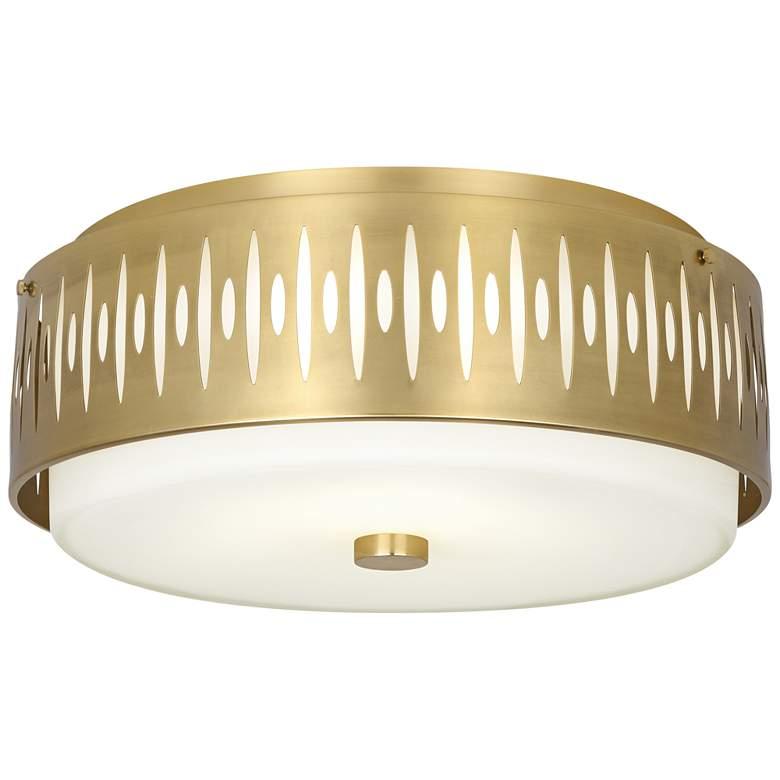 "Robert Abbey Treble 20 1/2"" Wide Modern Brass Ceiling Light"