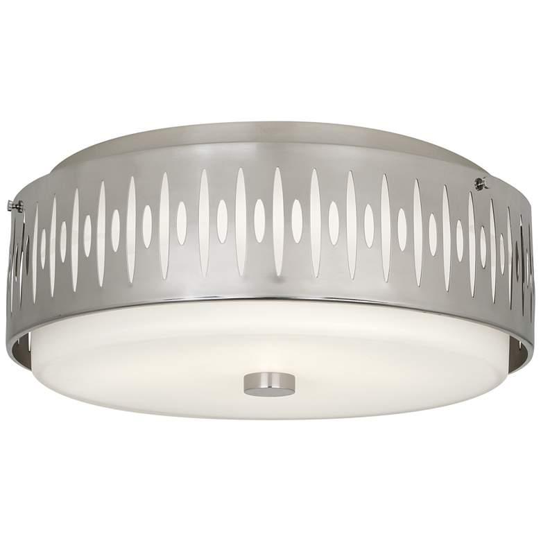 "Robert Abbey Treble 20 1/2""W Antique Silver Ceiling Light"