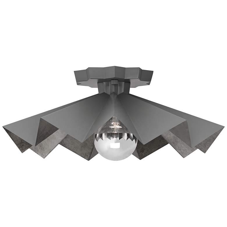 """Robert Abbey Bat 16"""" Wide Matte Charcoal Gray Ceiling Light"""