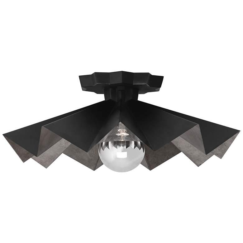 Robert Abbey Bat 16 Wide Matte Black Ceiling Light 70d35 Lamps Plus