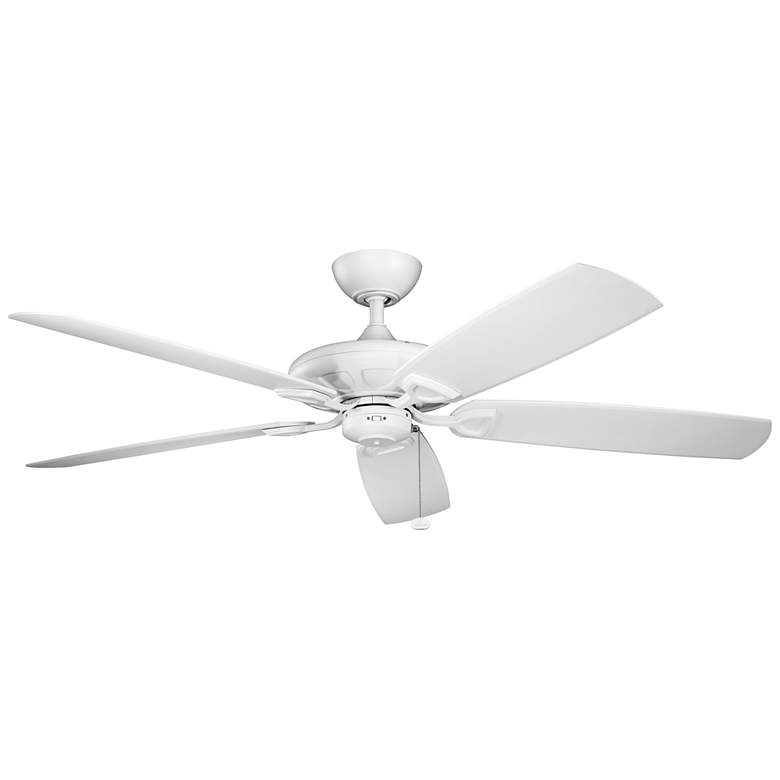"""60"""" Kichler Kevlar Climates White Outdoor Ceiling Fan"""