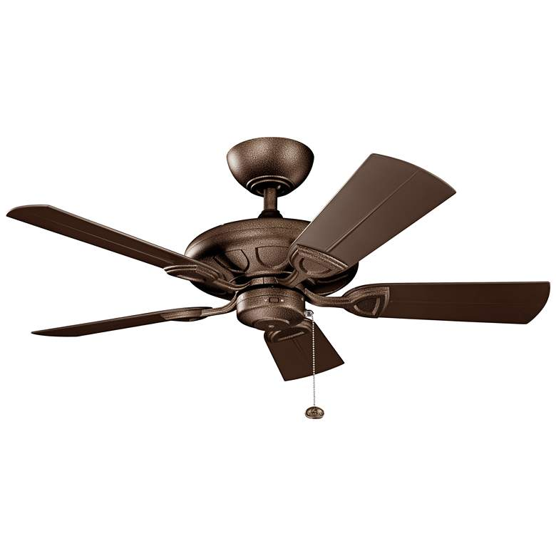 "42"" Kichler Kevlar Climates Copper Outdoor Ceiling Fan"