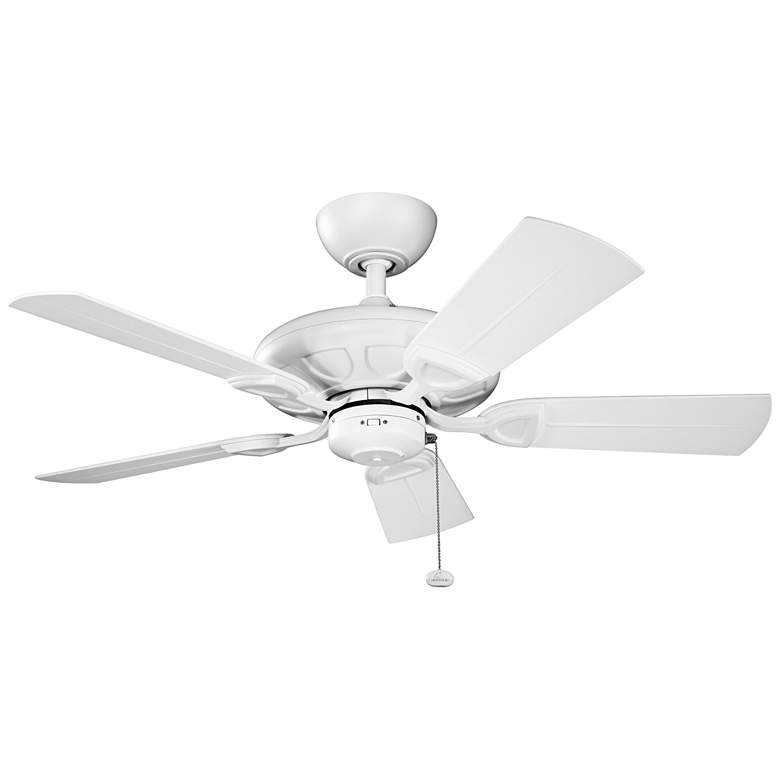 "42"" Kichler Kevlar Climates White Outdoor Ceiling Fan"