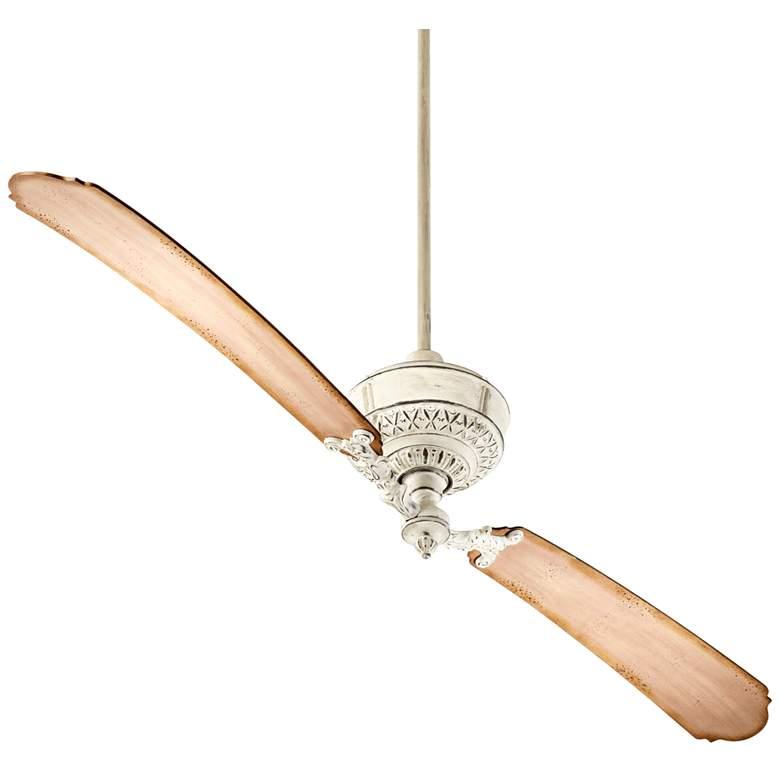 """68"""" Quorum Turner Persian White Ceiling Fan"""