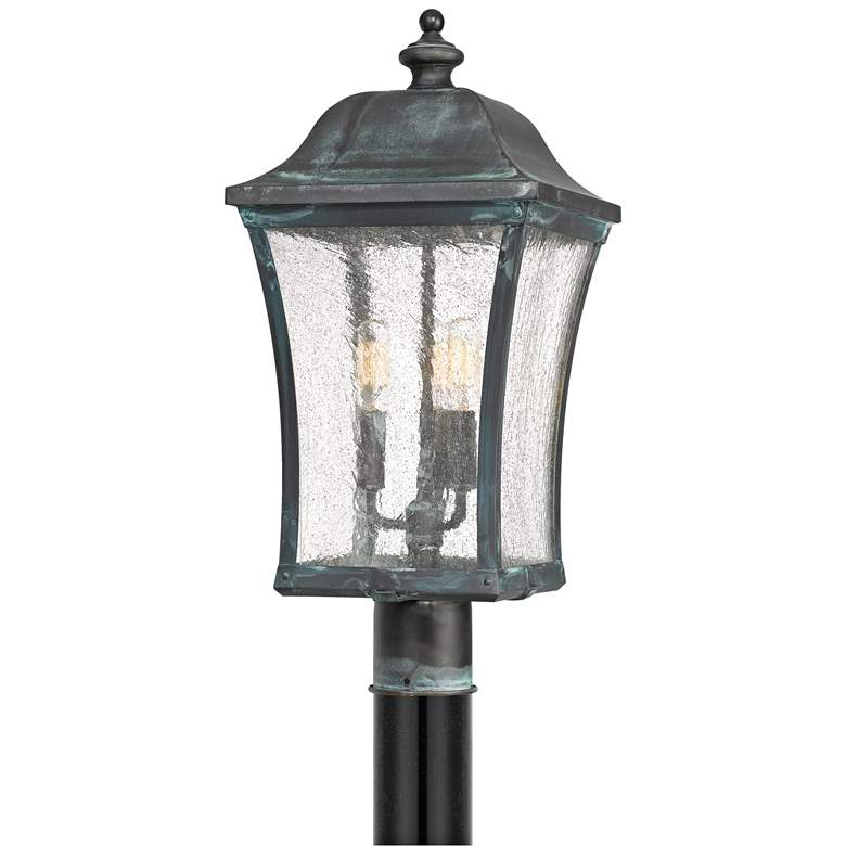 """Quoizel Bardstown 25 1/4"""" High Aged Verde Outdoor"""