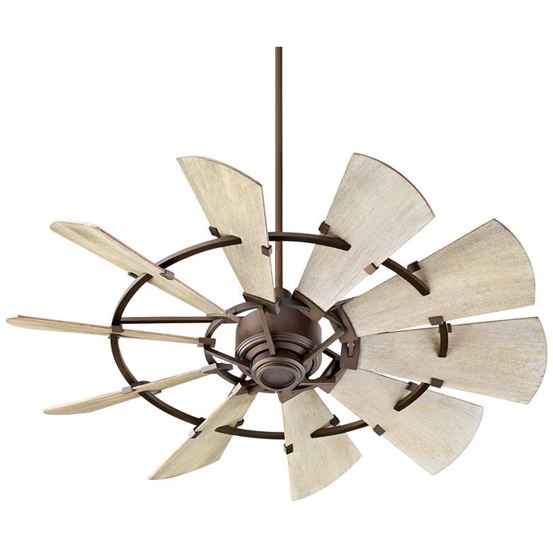 "52"" Quorum Windmill Oiled Bronze Ceiling Fan"