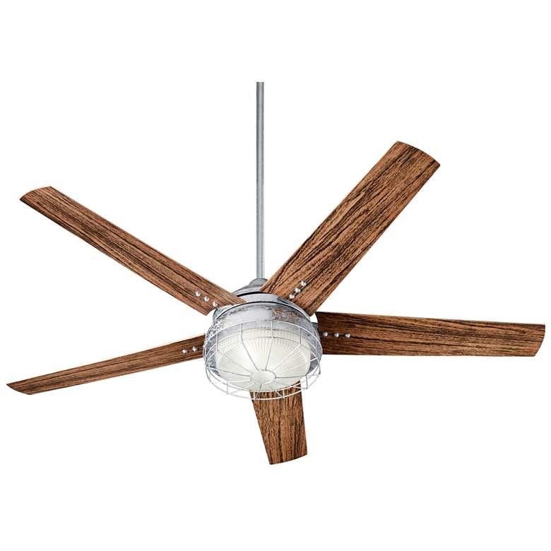 """60"""" Quorum Westland Galvanized LED Patio Ceiling Fan"""