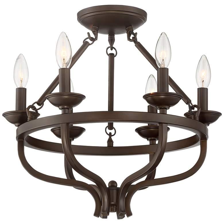 "Adari 17 3/4"" Wide Oil-Rubbed Bronze Ceiling Light"