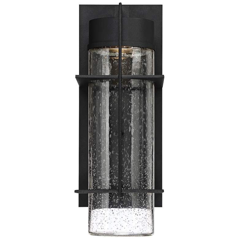 """Quoizel Eames 16"""" High Earth Black LED Outdoor Wall Light"""