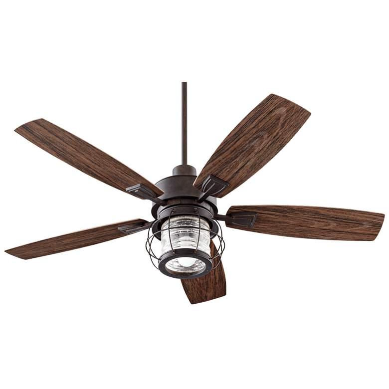 "52"" Quorum Galveston Toasted Sienna Patio Ceiling Fan"