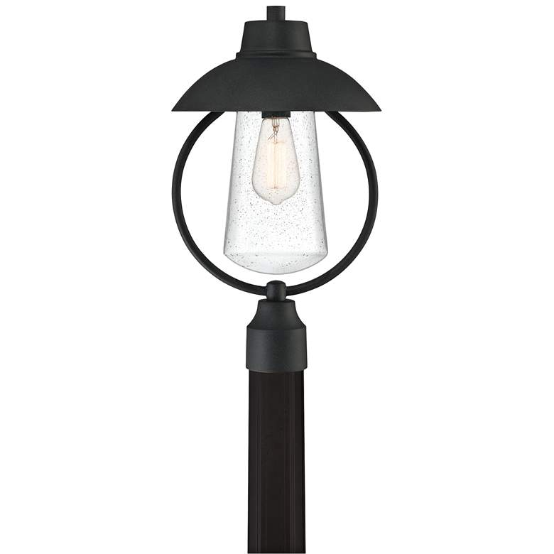 "Quoizel East Bay 19"" High Mottled Black Outdoor Post Light"