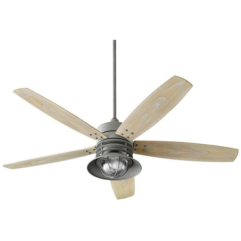 """60"""" Quorum Portico Zinc Patio Ceiling Fan"""