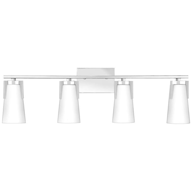 "Quoizel Miriam 32"" Wide Polished Chrome 4-Light Bath"