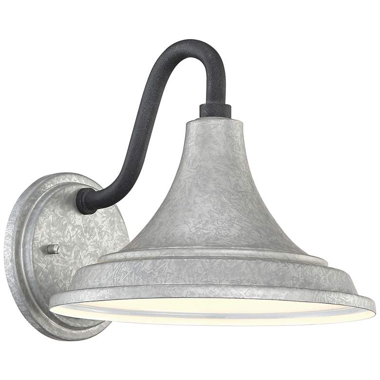"Quoizel Oceanfront 9 1/2"" High Galvanized Outdoor Wall Light"