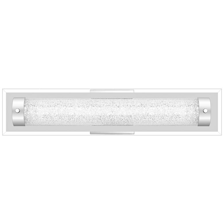 "Quoizel Glitz 21 3/4"" Wide Polished Chrome LED"