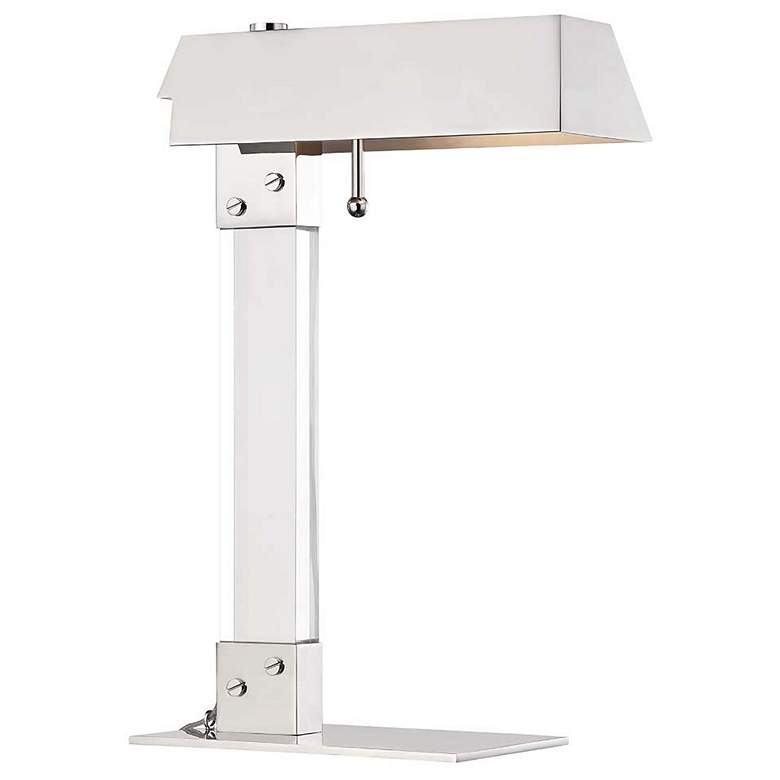 """Hudson Valley Hunts Point 19""""H Polished Nickel Table Lamp"""