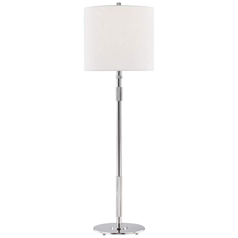 Hudson Valley Bowery Polished Nickel Metal Table Lamp
