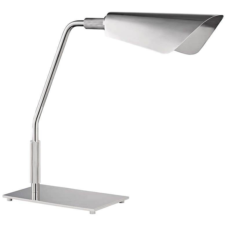 "Hudson Valley Bowery 17"" High Polished Nickel LED"