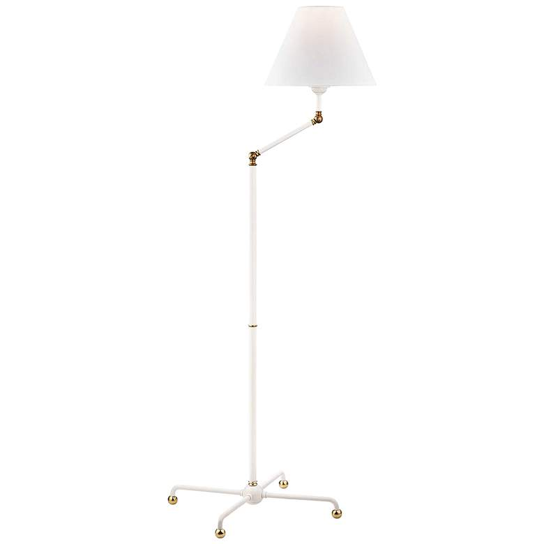 Hudson Valley Classic No.1 White Metal Floor Lamp