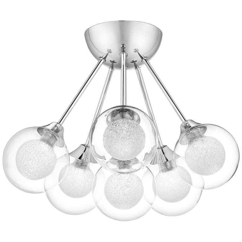 "Platinum Spellbound 16"" Wide Chrome 6-Light Ceiling Light"