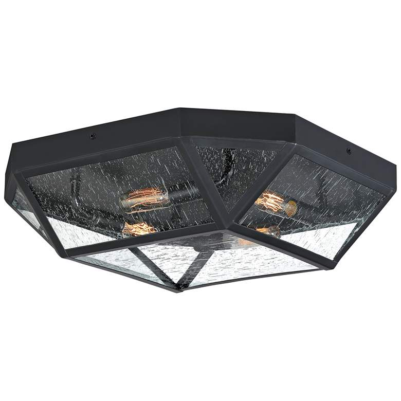"Quoizel Montrose 17 1/2"" Wide Mystic Black Ceiling Light"