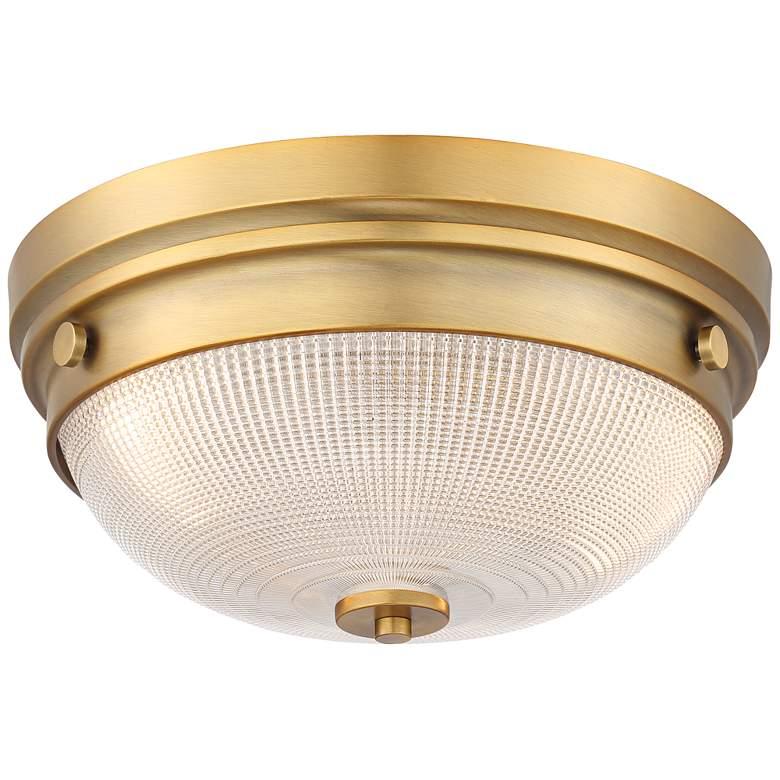 "Possini Euro Glendive 13 1/4"" Brass Bowl Ceiling Light"