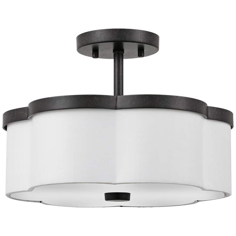 """Quoizel Hydra 14"""" Wide Imperial Bronze Ceiling Light"""