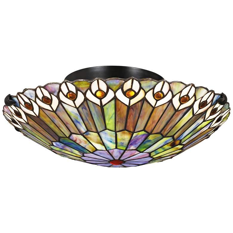 "Quoizel Watkins 16 1/2"" Wide Vintage Bronze Ceiling Light"