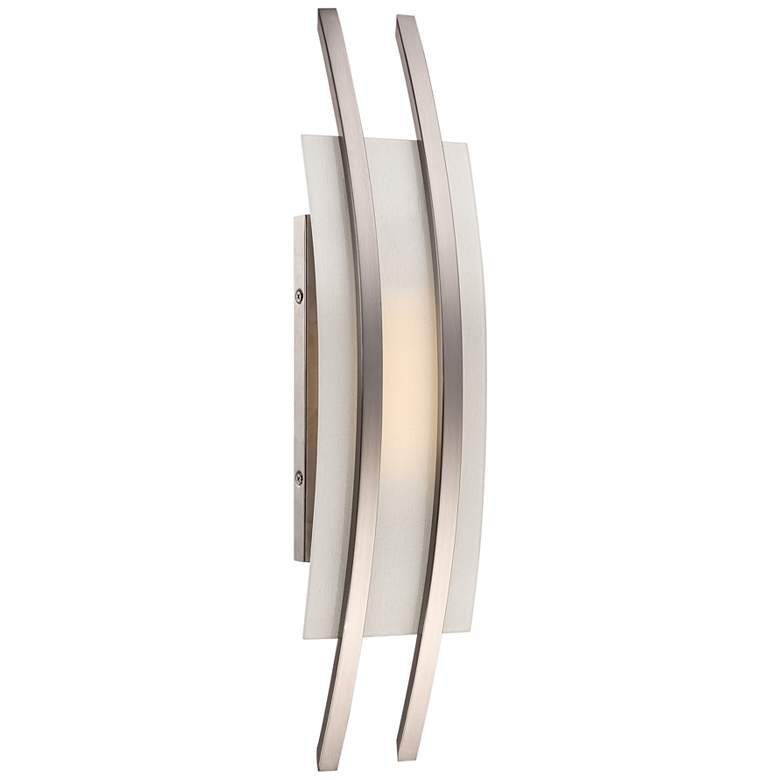 """Trax 20"""" High Brushed Nickel LED Wall Sconce"""