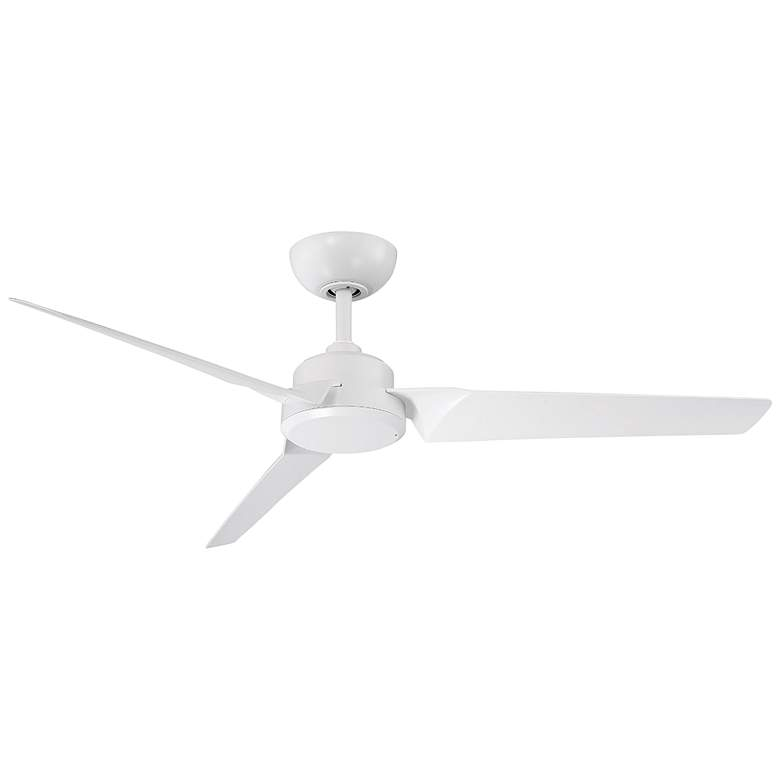 """52"""" Modern Forms Roboto Matte White Wet Rated Ceiling Fan"""