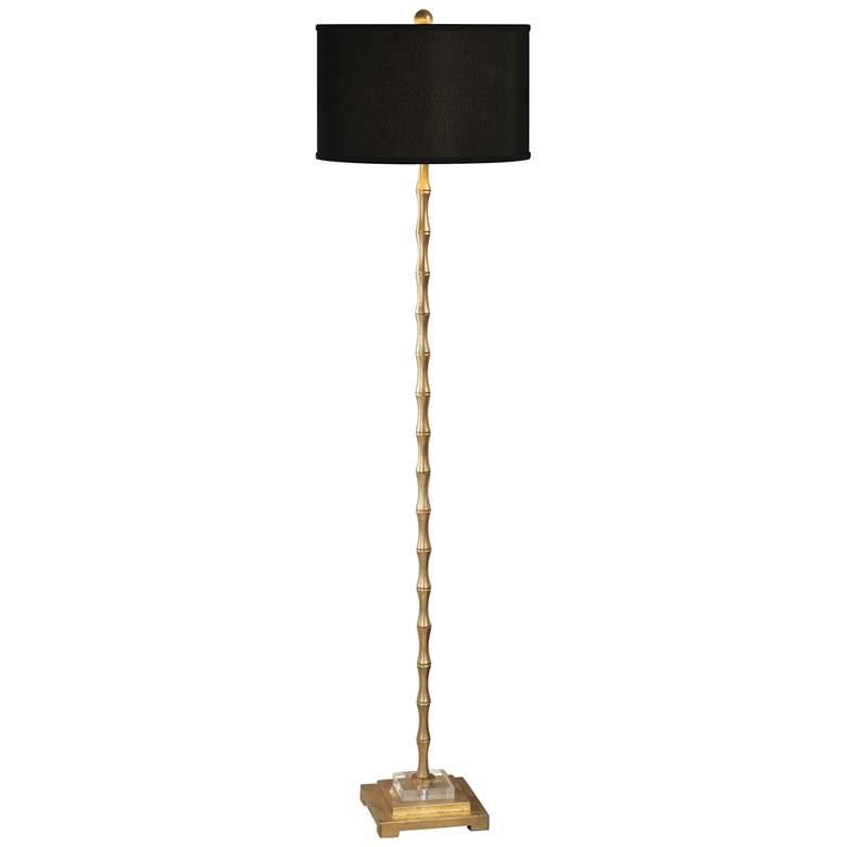 Uttermost Quindici Antiqued Gold Leaf Bamboo Floor Lamp
