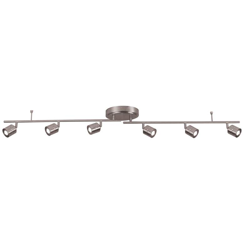 Core 6-Light Satin Nickel LED Track Fixture