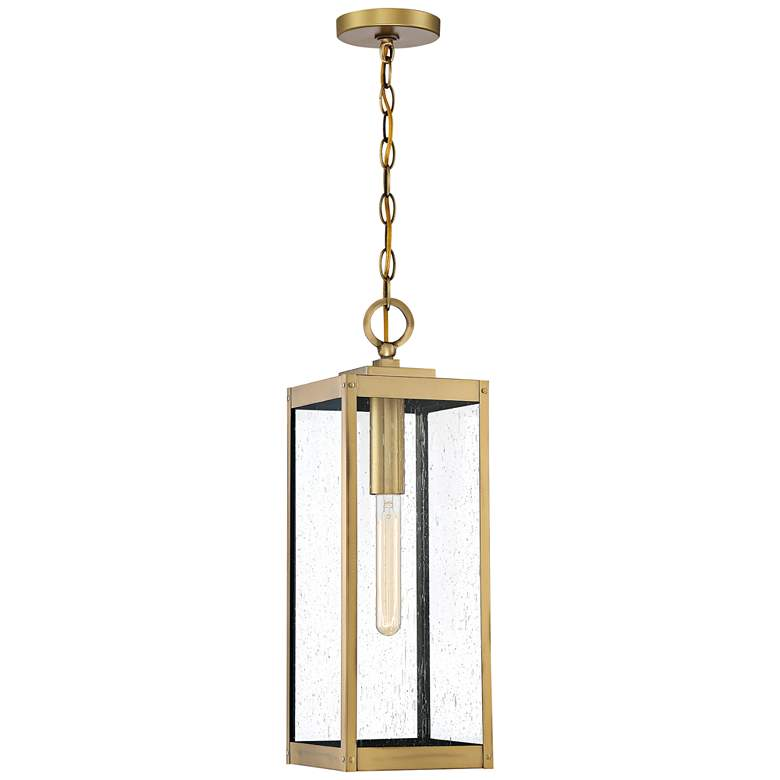"Westover 20 3/4"" High Antique Brass Outdoor Hanging Light"