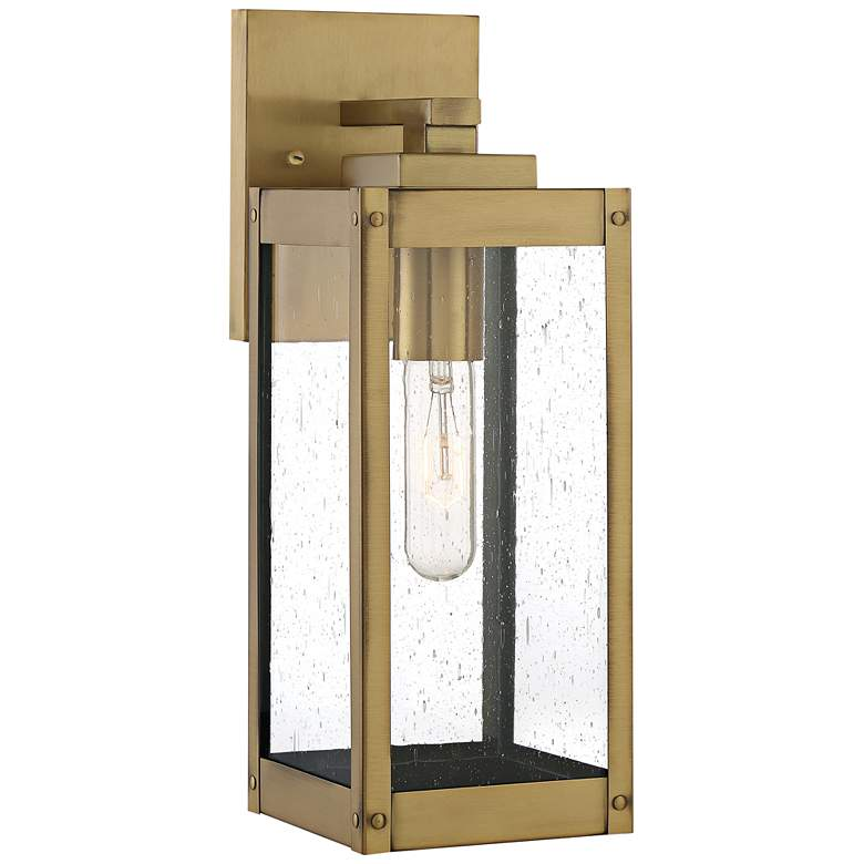 "Quoizel Westover 14 1/4""H Antique Brass Outdoor Wall Light"