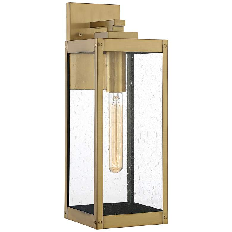 """Quoizel Westover 17"""" High Antique Brass Outdoor Wall Light"""