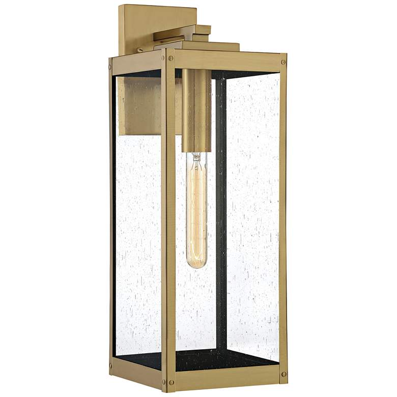"Quoizel Westover 20"" High Antique Brass Outdoor Wall Light"