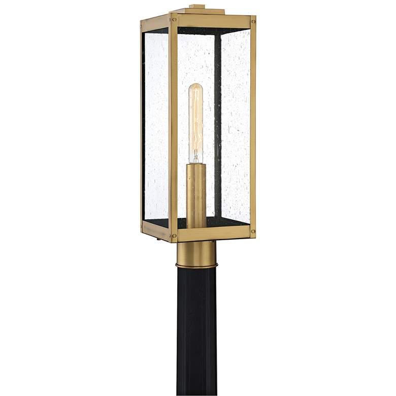"Quoizel Westover 20 1/2""H Antique Brass Outdoor Post Light"