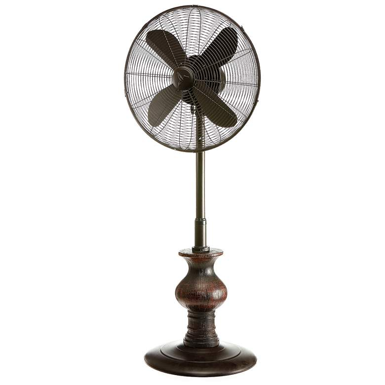 "16"" Austin Black Outdoor Floor Fan"