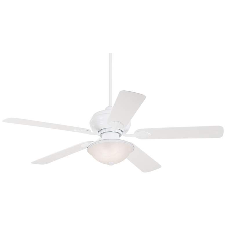 "52"" Casa Vieja® White Outdoor LED Ceiling Fan"