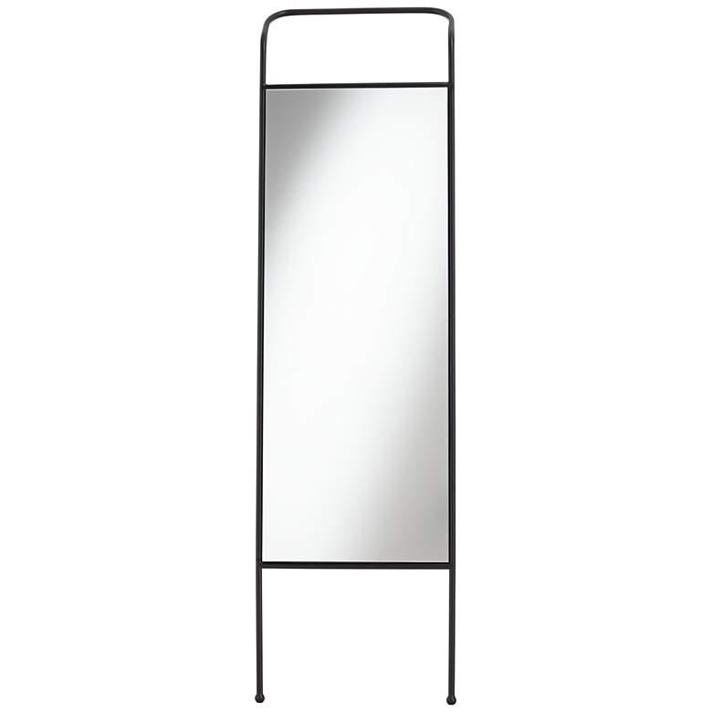 "Dalby Black 19 3/4"" x 71"" Rectangular Floor Mirror"