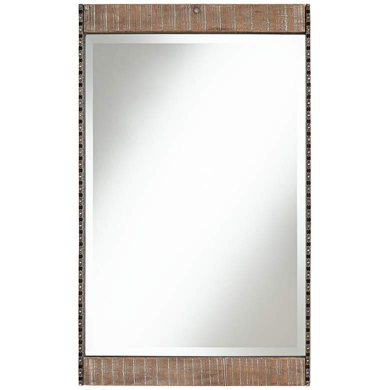 """Ameena 22 1/4"""" x 30 1/2"""" Wide Rectangular Wood Wall Mirror"""