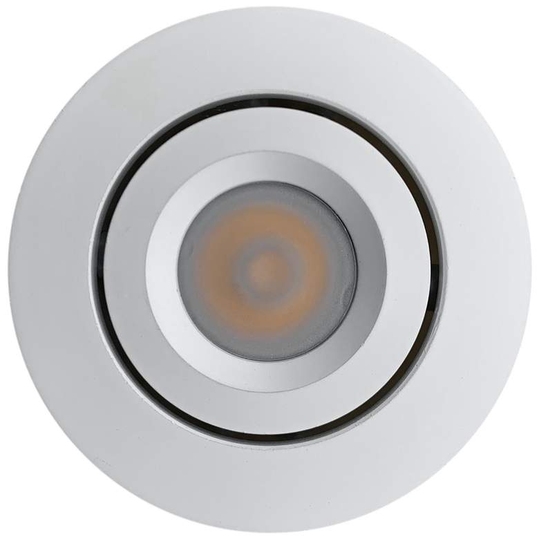 "Orba 2"" Wide White LED Recessed Mount Under Cabinet Light"
