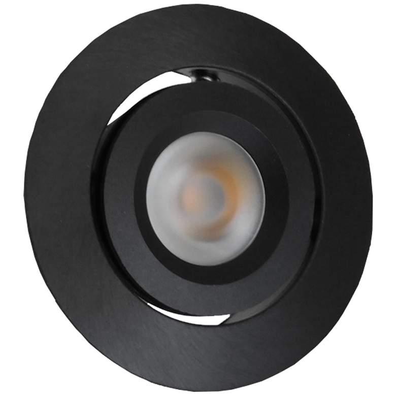 """Orba 2"""" Wide Black LED Recessed Mount Under Cabinet Light"""