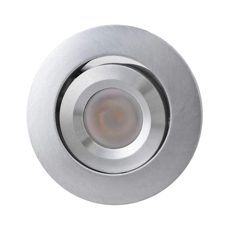 "Orba 2"" Wide Silver LED Recessed Mount Under Cabinet Light"