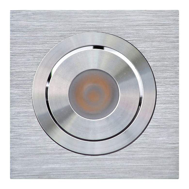 """Selbo 2 1/2""""W Silver LED Recessed Mount Under"""
