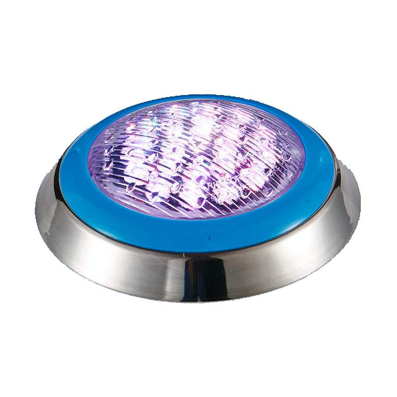 Rixen Silver RGB LED Pool Light with Remote